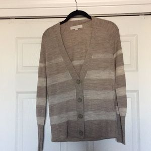 Medium Loft V Neck Button Down Cardigan.